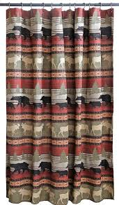 Cabin Shower Curtains Moose Cabin Shower Curtain Bathroom Stuff Pinterest