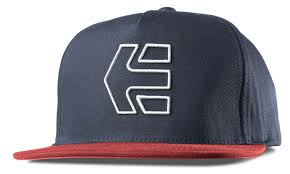 etnies icon 7 snapback caps and hats red navy men s accessories