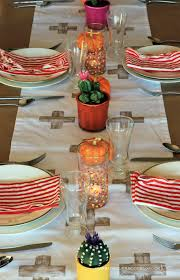 2013 thanksgiving table setting cactus centerpieces