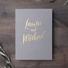 500 pocket photo album photo wedding guest book gray gold or white lettering album for