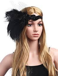 feather headband babeyond 1920s gatsby headpiece 20s flapper headband