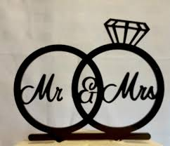 acrylic cake toppers mr mrs wedding ring acrylic cake topper