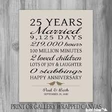 The 25 Best Funny Anniversary 25 Year Anniversary Gift 25th Anniversary Art By Printsbychristine