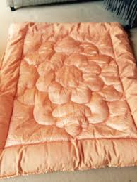 Ivory Quilted Bedspread Vintage Feather Eiderdown Quilt Bedspread Quilted Bedspreads
