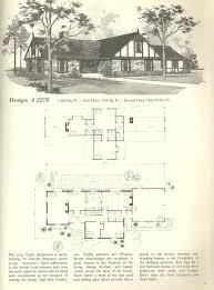 vintage house plans 1970s homes tudor style house plans