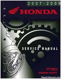 vt750c2 service manual 2007 2009 honda shadow spirit