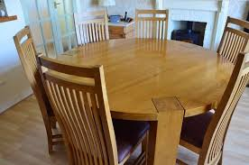 solid oak round dining table 6 chairs solid oak large round dining table and 6 chairs in flamborough
