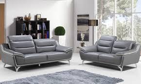 ensemble de canapé ensemble canapé classe 3 2 en cuir coloris anthracite salotti