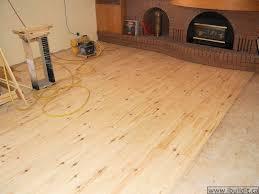 Pine Plank Flooring Laying A Rustic Pine Floor