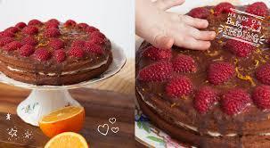 healthy orange chocolate cake chocolate ganache u0026 raspberries