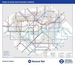 Underground Map Tfl U0027s New Tube Map Reveals Walking Distances Between London
