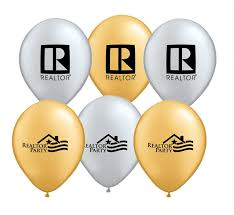 metallic balloons realtor 9 inch metallic balloons special order rts5112