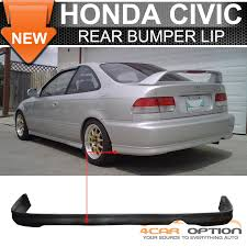 honda civic rear 99 00 honda civic 1999 2000 2 4dr rear bumper lip spoiler bodykit