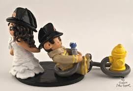 fireman cake topper fireman dragging fireman groom cake topper my custom
