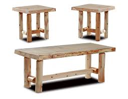 Rustic Coffee And End Tables Rustic Log Coffee And End Table Set Pine And Cedar
