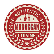cuisine marocaine en langue arabe abstract st or label with the text authentic moroccan cuisine