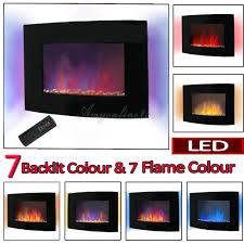 modern electric fireplace heater fire place flame effect stove