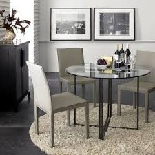 Glass Topped Dining Table And Chairs Round Glass Top Kitchen Table And Chairs Foter