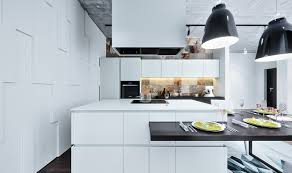 kitchen captivating white kitchen design idea with mirrored