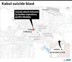 kabul map is bomber militants attack embassy in kabul all