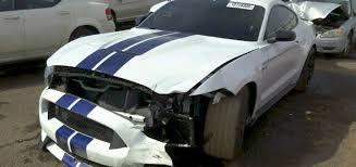 totaled for sale crashed shelby gt350 salvage car for sale ford authority