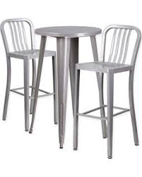 silver metal bar table spectacular deal on flash furniture 3 piece 24 round metal bar