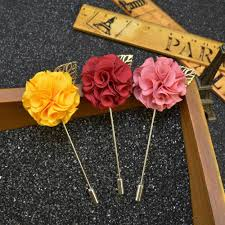 Lapel Flowers Men U0027s Suits Flowers Brooches For Wedding Pin Up Insert Long Lapel