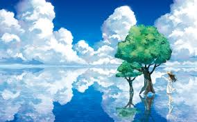 blue reflections wallpapers water reflection wallpaper 1920x1200 id 23287