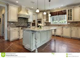 kitchen granite island kitchen with large granite island stock image image 20848741