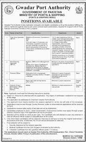 jobs in gwadar port authority govt of pakistan 14 may 2016