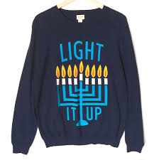 light up hanukkah sweater light it up men s ugly hanukkah chanukah sweater the ugly sweater shop