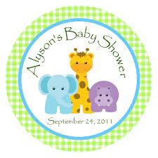 jungle animals baby shower ideas jungle animals favor tags or