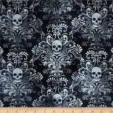 Black And Gold Damask Curtains by Halloween Discount Designer Fabric Fabric Com