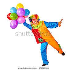 clown baloons birthday child clown balloons bunch on stock photo 579315388