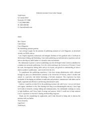 cover letter assistant publishing assistant cover letter sles and templates