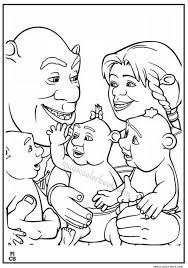shrek family coloring pages magic color book