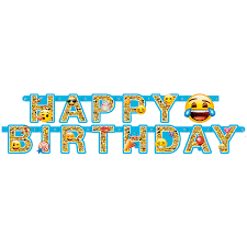 margarita emoji emoji emoticon happy birthday jointed letter banner from party