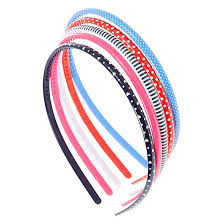 plastic headbands kids 5 pack thin patterned plastic headbands s us