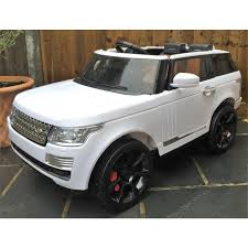 range rover svr black kids range rover vogue svr sport style electric ride on car in white