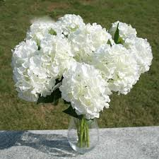 silk hydrangea faux artificial silk flower bouquet hydrangea home wedding floral