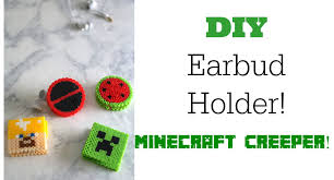 nerdy home decor diy earbud holder minecraft craft nerdy crafts ep 5 youtube