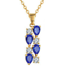 gold plated fashion necklace images Buy necklace online blue necklace yellow gold plated necklace jpg