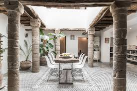 Interior Home Columns by Beautifully Restored 200 Year Old House In Morocco Available For