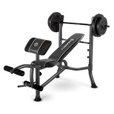 marcy standard bench w 80 lb weight set quality strength