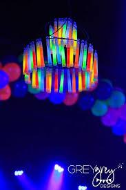 Glow Lighting Chandeliers Glow Stick Chandelier Crafts Pinterest Glow Sticks Birthday