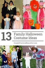 family costumes for halloween simple practical beautiful