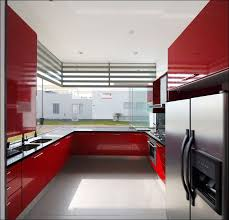 Red And Black Kitchen Ideas Red And Black Kitchen Designs Custom Modern Kitchen With Red