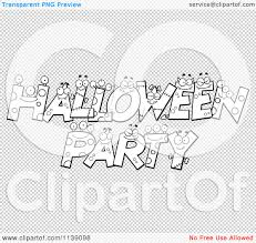 white halloween background cartoon clipart of black and white halloween party letter