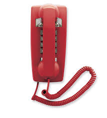 Old Fashioned Wall Mounted Phones Amazon Com Cetis Scitec 2554e Red Corded Telephones Electronics