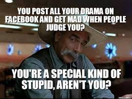 Facebook Post Meme - posting drama on facebook